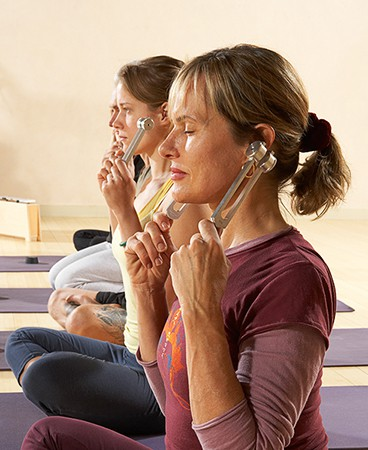 Listen to the sound of ohm during yoga
