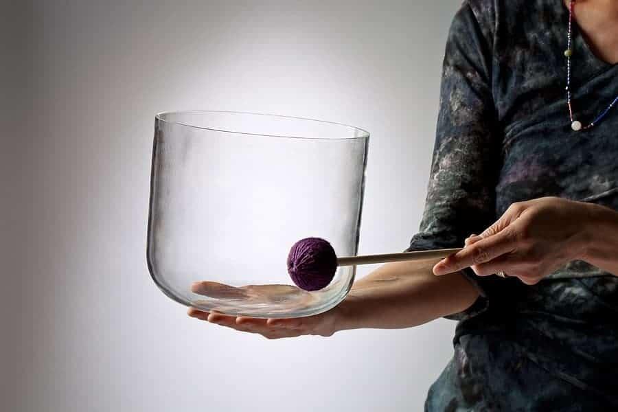 Clear Crystal Ohm Bowl