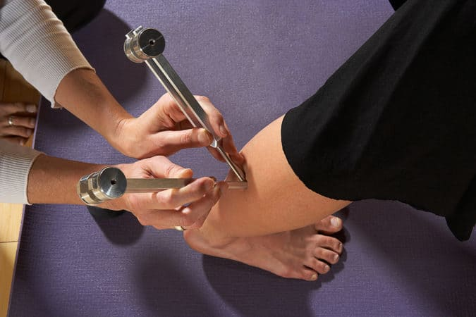 Extend yoga pose with Ohm Therapeutic Tools