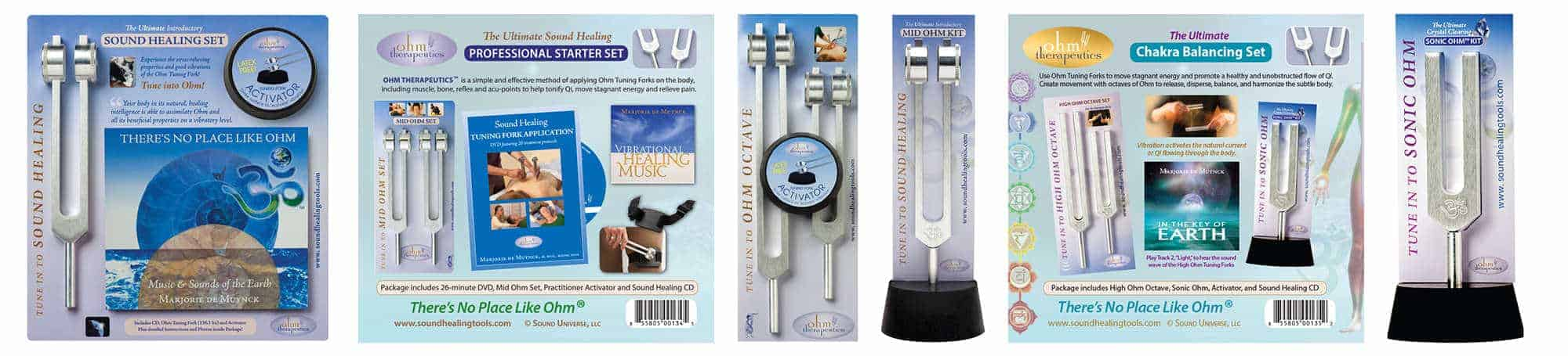 Ohm Sound Healing Tuning Forks Lineup